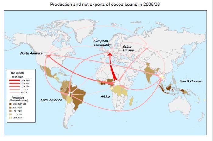 Export Map - World Cacoa Foundatio